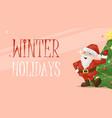 christmas card santa xmas greeting decoration vector image vector image