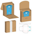 clothes box template design 3d mock-up vector image