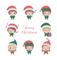 collection of cute little elves vector image vector image