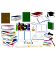 color books vector image vector image