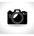 compact photo camera flash white background design vector image