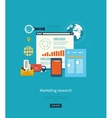 Concepts for business analytics strategy planning vector image vector image