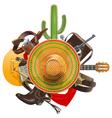 Cowboy Concept with Sombrero vector image vector image