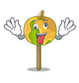crazy candy apple mascot cartoon vector image vector image