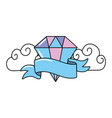 cute diamond cartoon vector image