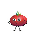cute red tomato character cartoon mascot vegetable vector image
