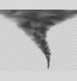dark tornado isolated on transparent background vector image vector image