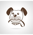 dog with leash vector image vector image