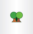 eco trees flat icon element vector image vector image