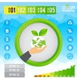 Ecology infographic and presentation vector image vector image
