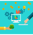 Flat concept of investment and startup making vector image