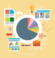 flat design modern concept of poster on business vector image