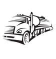 fuel truck vector image vector image