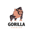gorilla thump up mascot character logo icon vector image