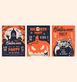 halloween party vintage brochures vector image vector image