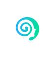 head brain logo icon design vector image vector image