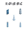 isometric skyscraper set of residential apartment vector image vector image