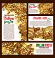 italian pasta cuisine sketch posters vector image vector image