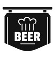 label of beer icon simple style vector image vector image