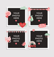 love photo frame valentines day design for photo vector image