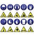 mandatory hazard vector image vector image