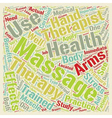 Massage Therapist text background wordcloud vector image vector image