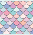 mermaid tail seamless pattern colorful fish skin vector image vector image