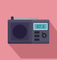 modern radio icon flat style vector image vector image