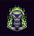 monster purple vector image