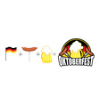Oktoberfest logo Emblem Beer Festival in Germany vector image