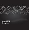 oktoberfest seamless pattern on the chalkboard vector image