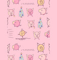 pattern with funny pigs vector image vector image
