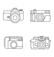 photo camera icons set in line style vector image
