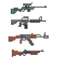 pixel firearm game vector image