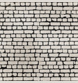 realistic grunge bricks in worn out brick wall vector image