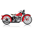 red classic motorcycle vector image vector image