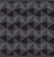 seamless abstract gray and black triangle pattern vector image vector image