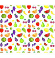 seamless pattern colorful cartoon fruit vector image