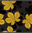seamless pattern with chestnut leaves graphics vector image