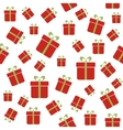 Seamless pattern with red gift boxes vector image vector image
