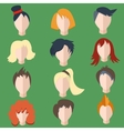 Set isolated men women wigs vector image vector image