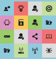 set of 16 editable global icons includes symbols vector image vector image