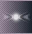 set of glowing sonar waves vector image vector image