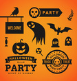 Set of Halloween and Decorative Elements vector image vector image