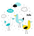 set with cute seagulls vector image vector image