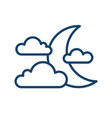 simple weather icon with half moon or waning vector image vector image