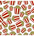 Sweet popcorn seamless pattern background vector image vector image