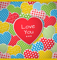 this is a seamless pattern with hearts vector image vector image