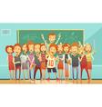 Traditional School Education Retro Cartoon Poster vector image vector image