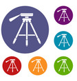 tripod icons set vector image